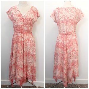 Sundace Silk Floral Avonlea Hankerchief Hem Dress